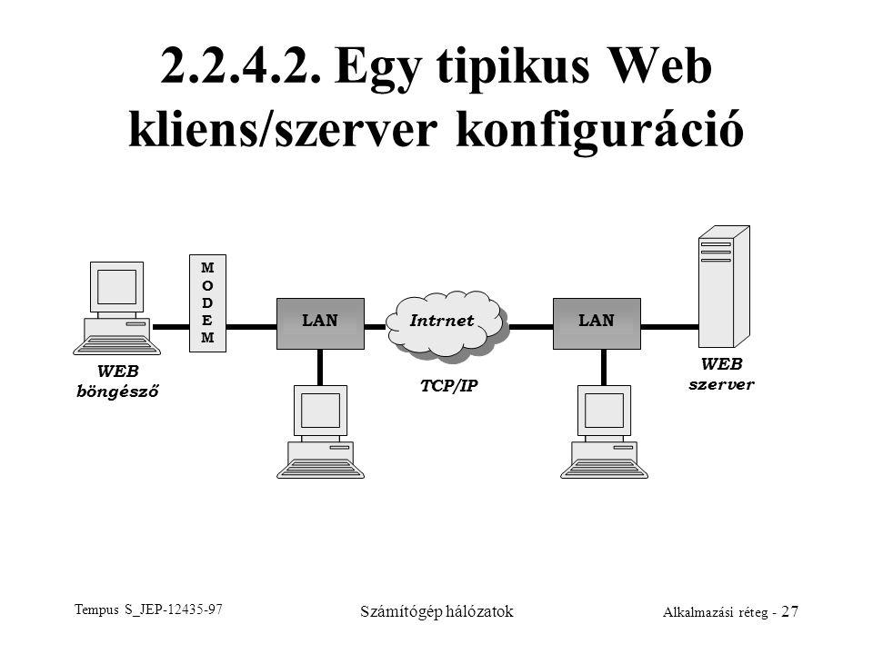 2.2.4.2. Egy tipikus Web kliens/szerver konfiguráció
