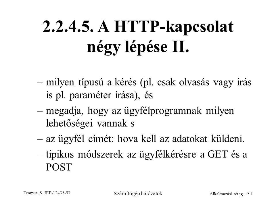 2.2.4.5. A HTTP-kapcsolat négy lépése II.