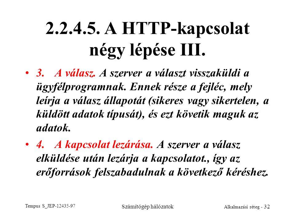 2.2.4.5. A HTTP-kapcsolat négy lépése III.