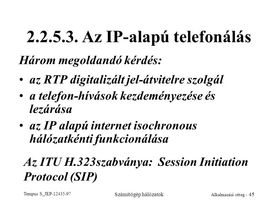 2.2.5.3. Az IP-alapú telefonálás