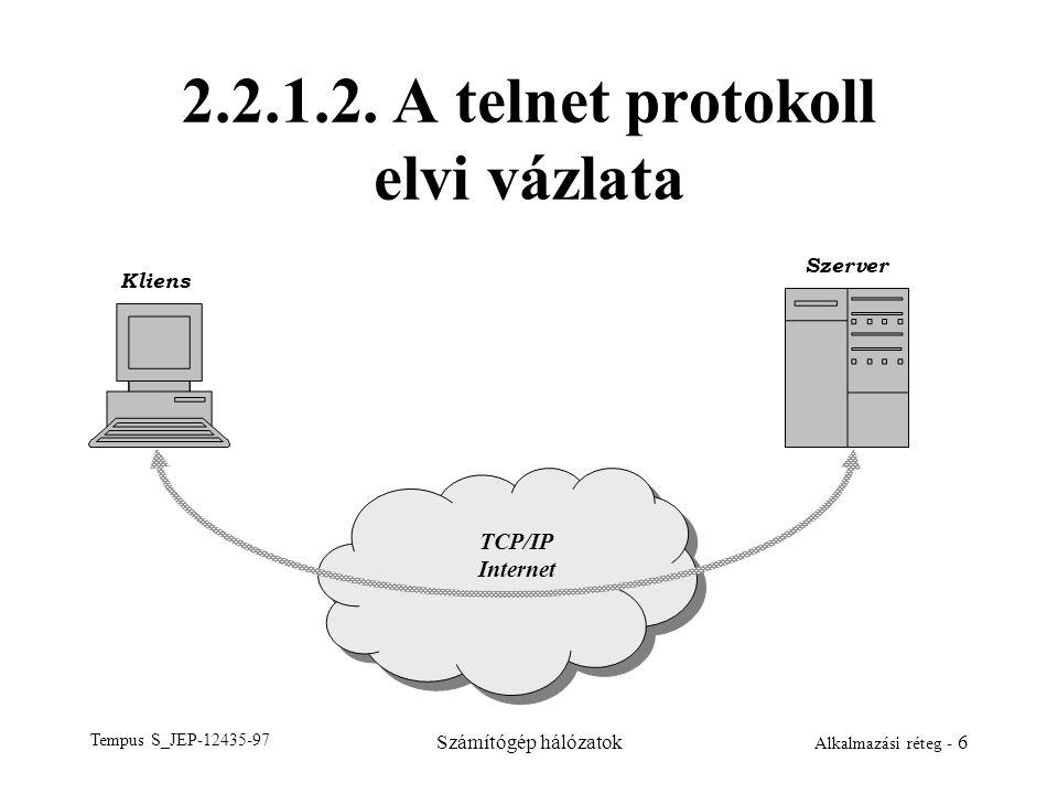 2.2.1.2. A telnet protokoll elvi vázlata