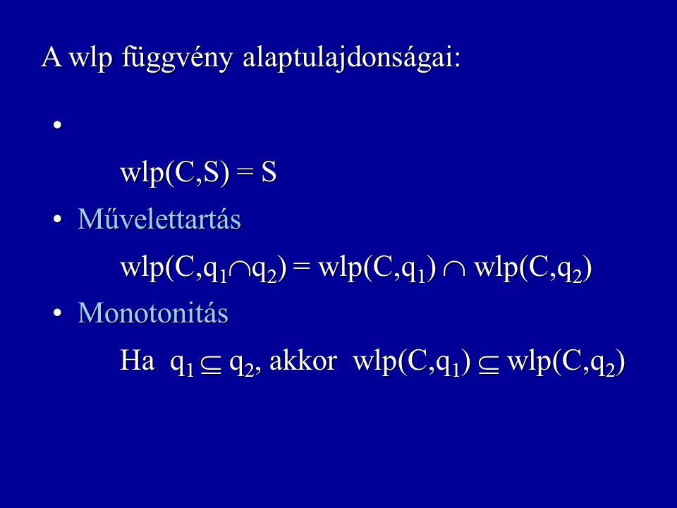A wlp függvény alaptulajdonságai: