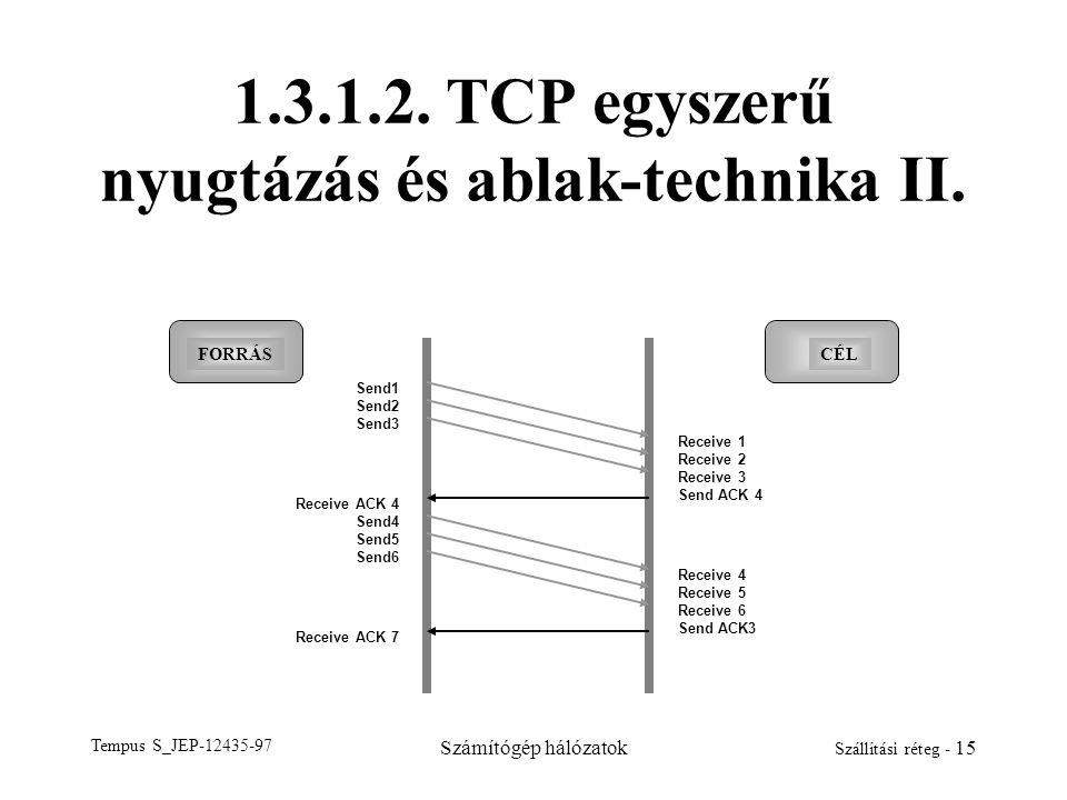 1.3.1.2. TCP egyszerű nyugtázás és ablak-technika II.