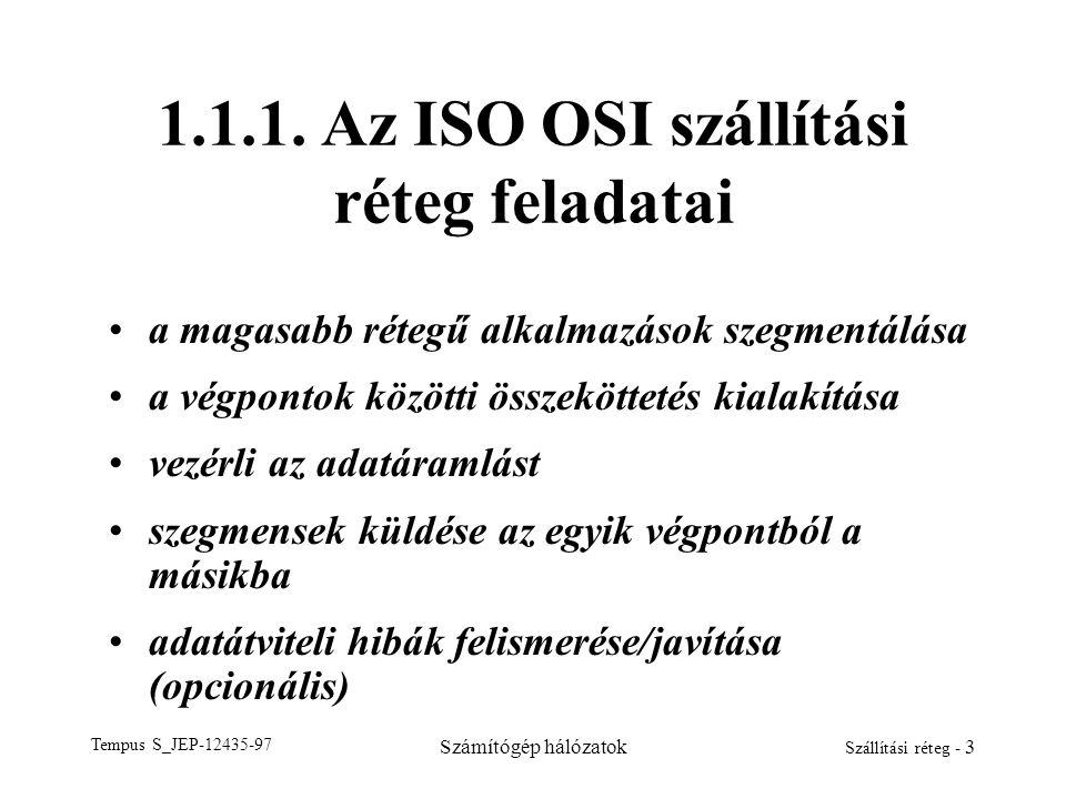 1.1.1. Az ISO OSI szállítási réteg feladatai
