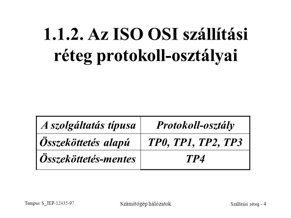 1.1.2. Az ISO OSI szállítási réteg protokoll-osztályai