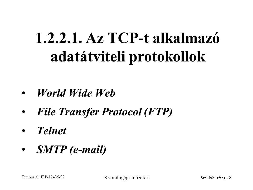 1.2.2.1. Az TCP-t alkalmazó adatátviteli protokollok
