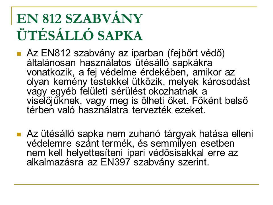 EN 812 SZABVÁNY ÜTÉSÁLLÓ SAPKA