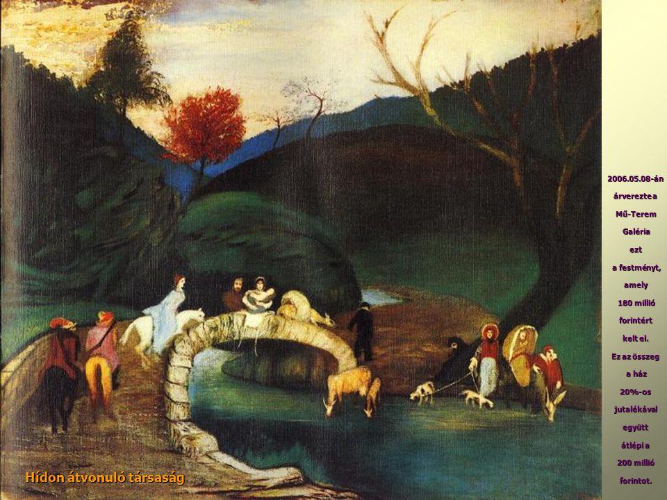 Hídon átvonuló társaság