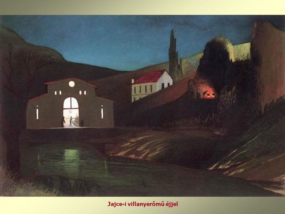 Jajce-i villanyerőmű éjjel