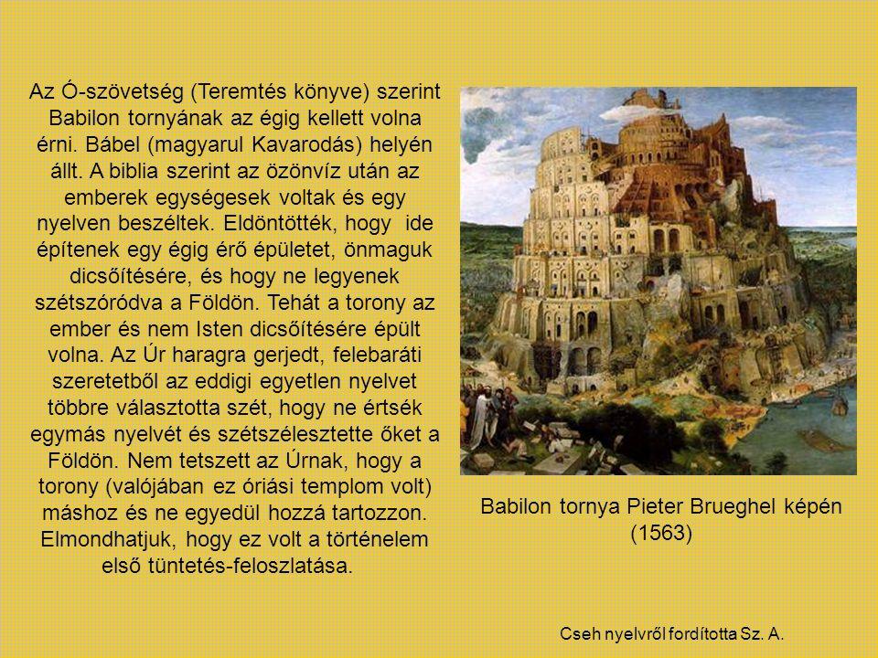 Babilon tornya Pieter Brueghel képén (1563)
