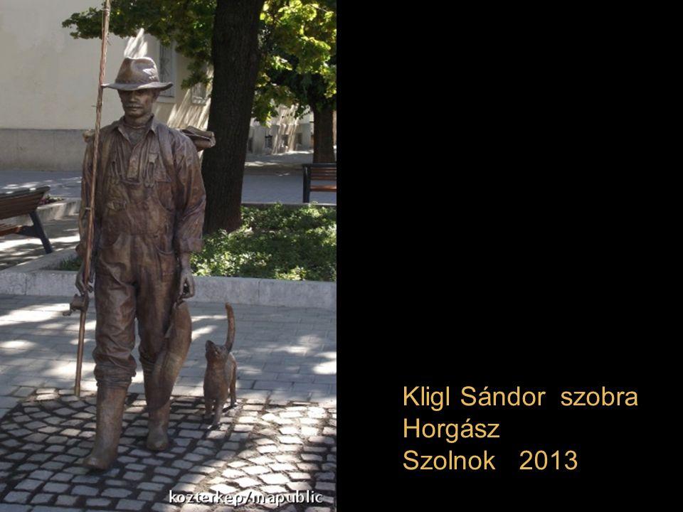 Kligl Sándor szobra Horgász Szolnok 2013