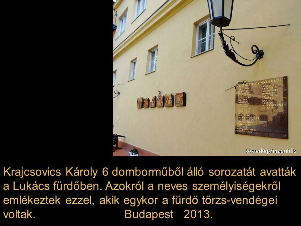 Krajcsovics Károly 6 domborműből álló sorozatát avatták a Lukács fürdőben.