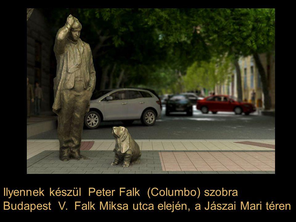 Ilyennek készül Peter Falk (Columbo) szobra