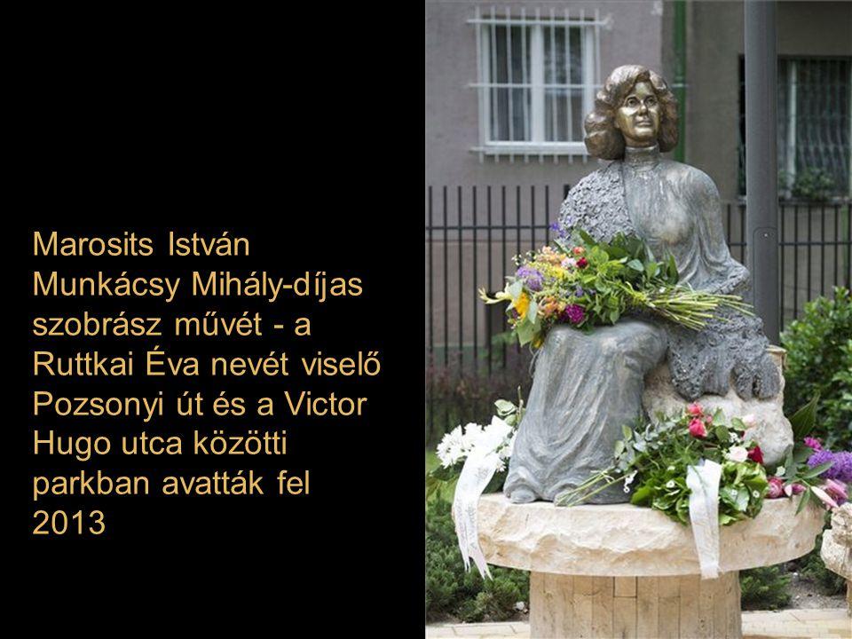 Marosits István Munkácsy Mihály-díjas szobrász művét - a Ruttkai Éva nevét viselő Pozsonyi út és a Victor Hugo utca közötti parkban avatták fel