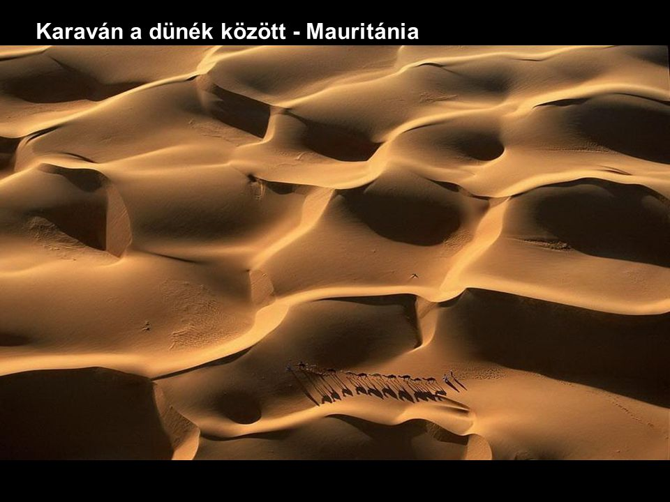 Karaván a dünék között - Mauritánia