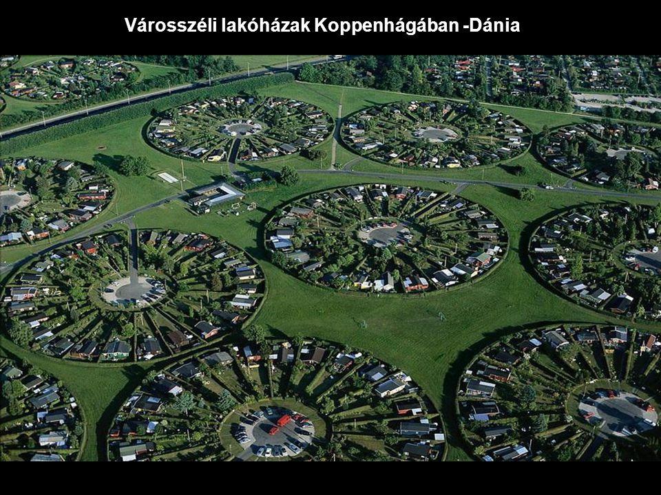 Városszéli lakóházak Koppenhágában -Dánia