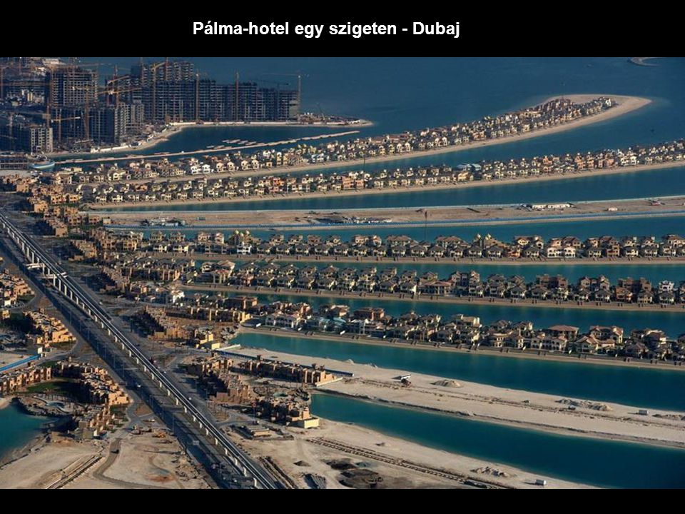 Pálma-hotel egy szigeten - Dubaj