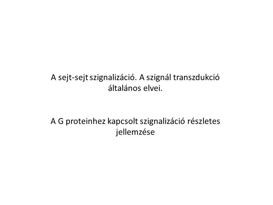 A szignál transzdukció elve