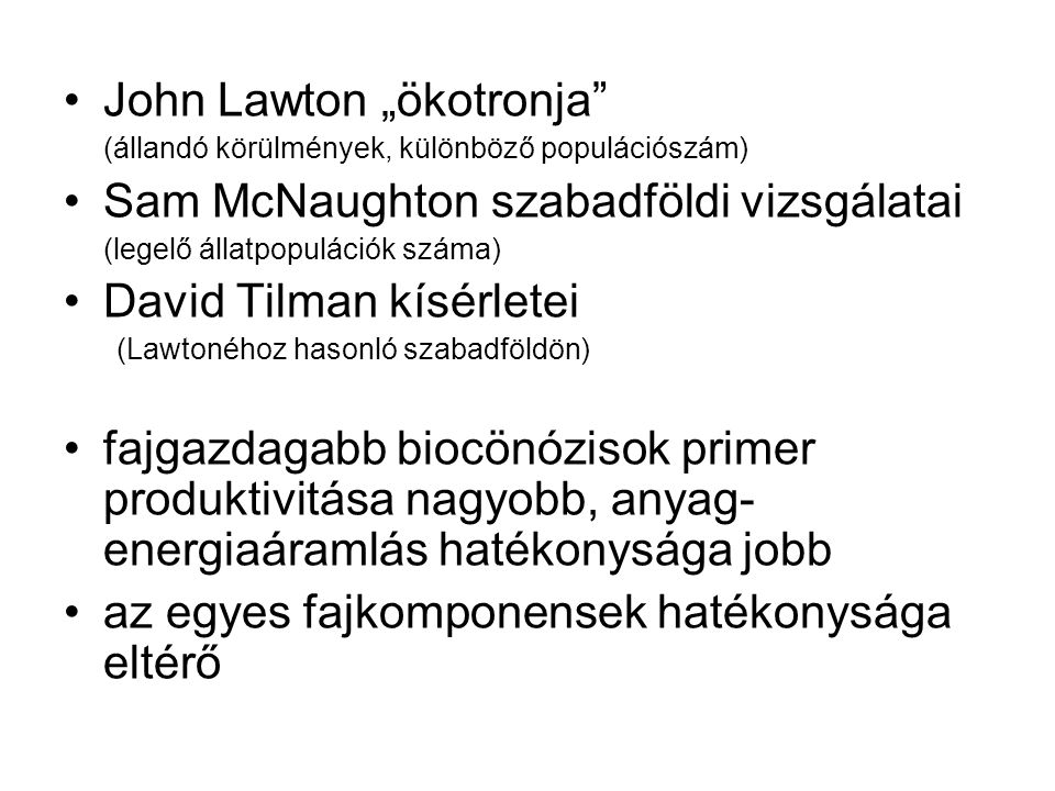 "John Lawton ""ökotronja Sam McNaughton szabadföldi vizsgálatai"