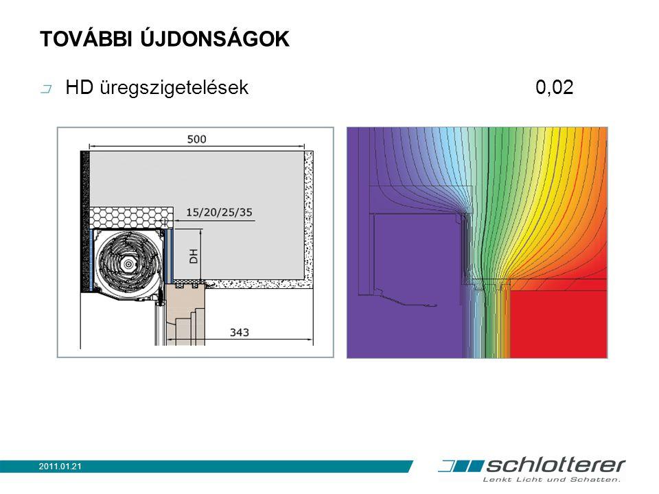 TOVÁBBI ÚJDONSÁGOK HD üregszigetelések 0,1 2011.01.21