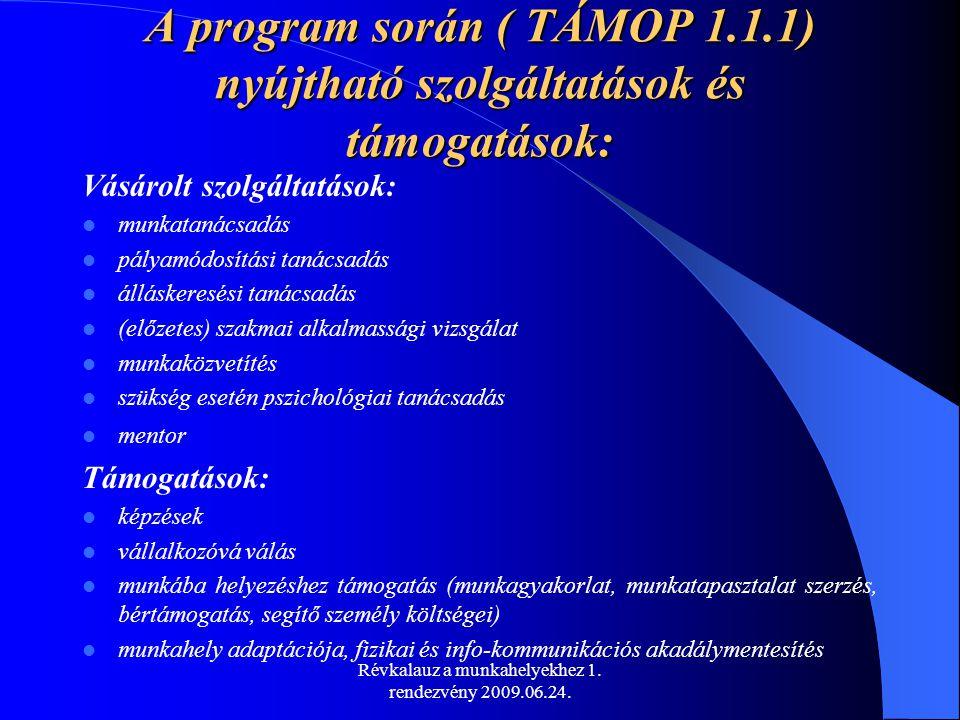 Révkalauz a munkahelyekhez 1. rendezvény 2009.06.24.