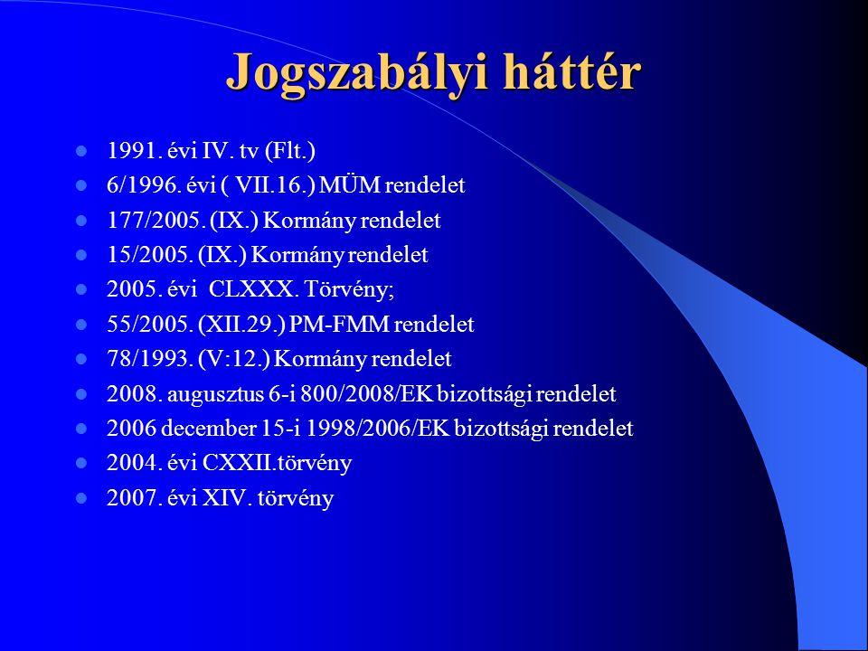Jogszabályi háttér 1991. évi IV. tv (Flt.)