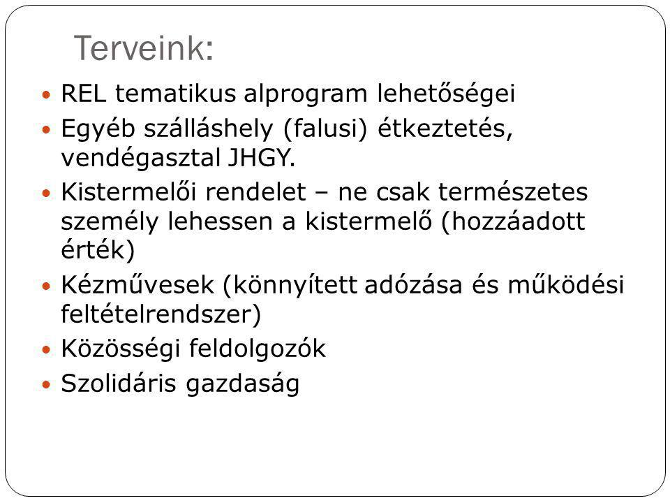 Terveink: REL tematikus alprogram lehetőségei