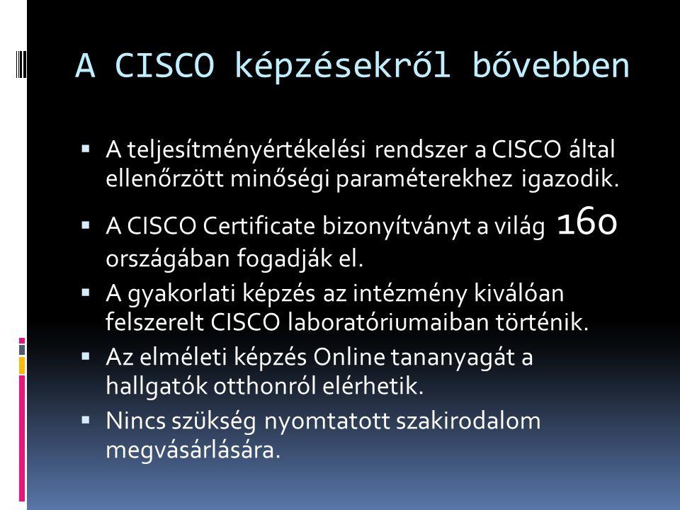 A CISCO képzésekről bővebben