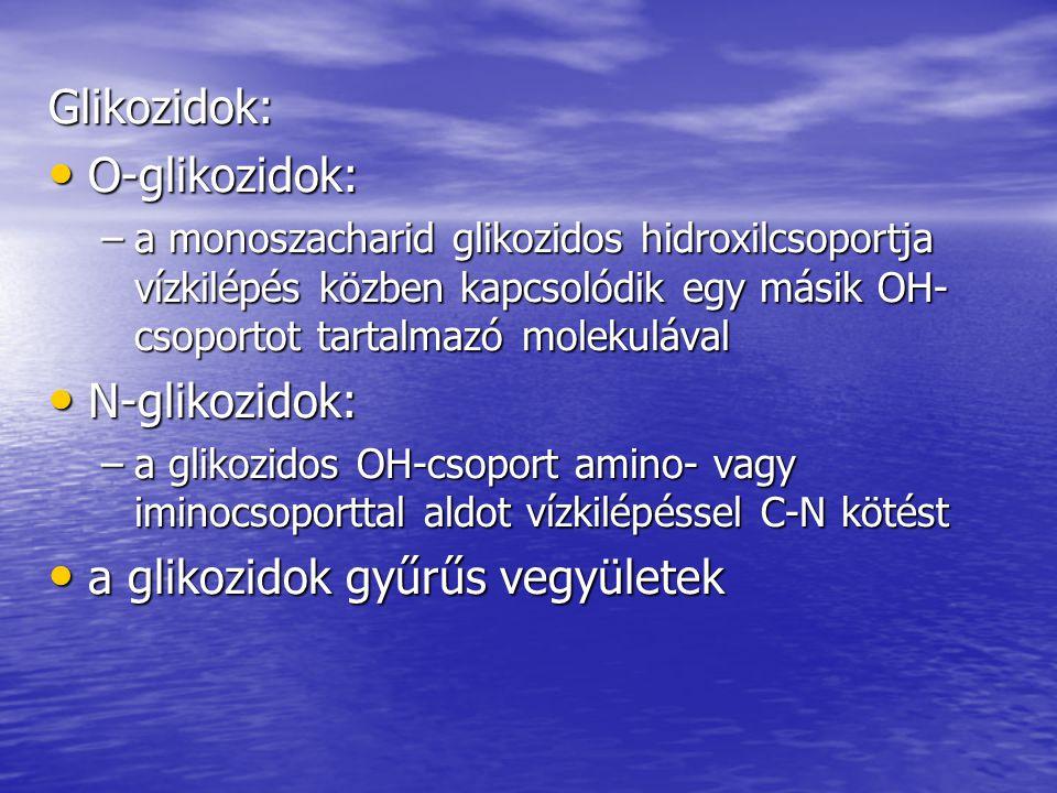 a glikozidok gyűrűs vegyületek