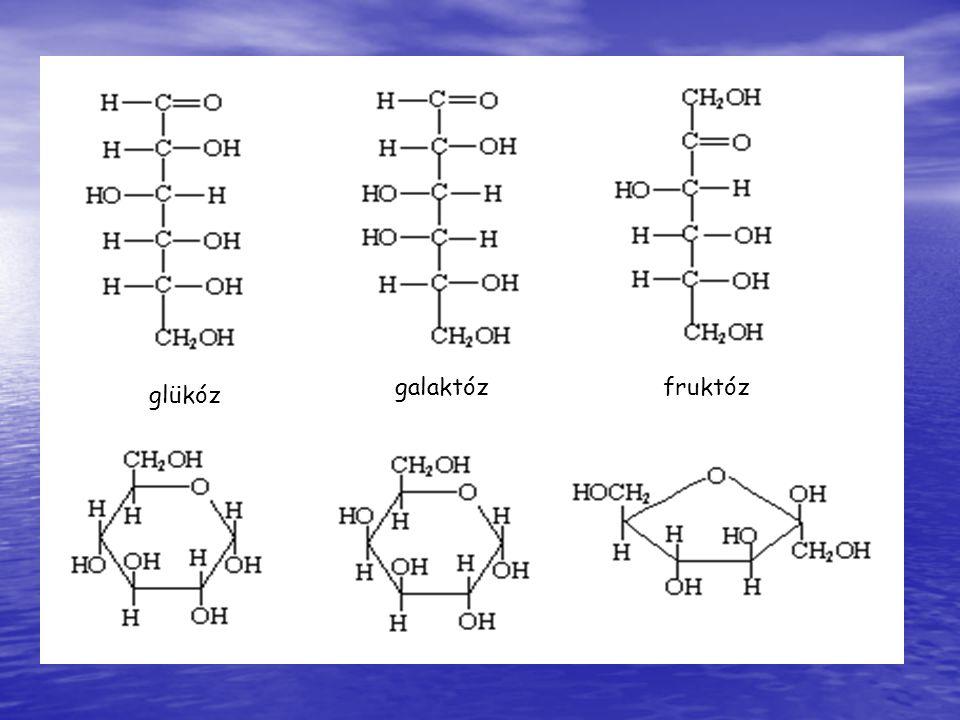 galaktóz fruktóz glükóz