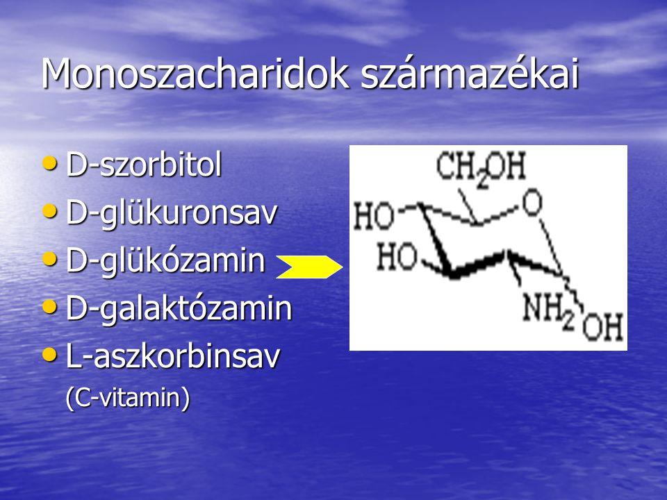 Monoszacharidok származékai