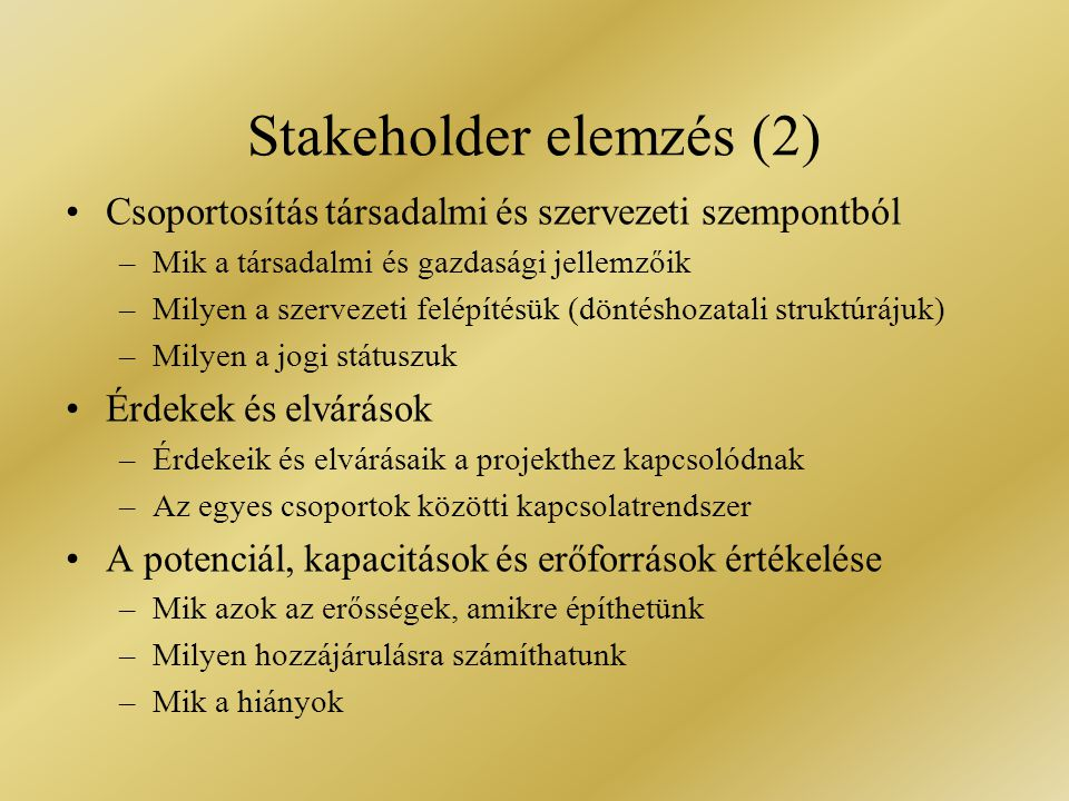 Stakeholder elemzés (2)