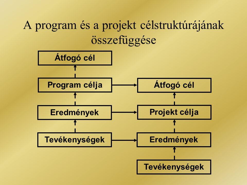 A program és a projekt célstruktúrájának összefüggése