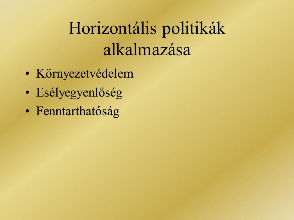 Horizontális politikák alkalmazása