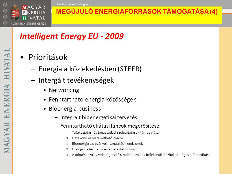 Intelligent Energy EU - 2009
