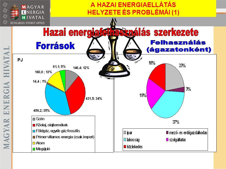 A HAZAI ENERGIAELLÁTÁS HELYZETE ÉS PROBLÉMÁI (1)