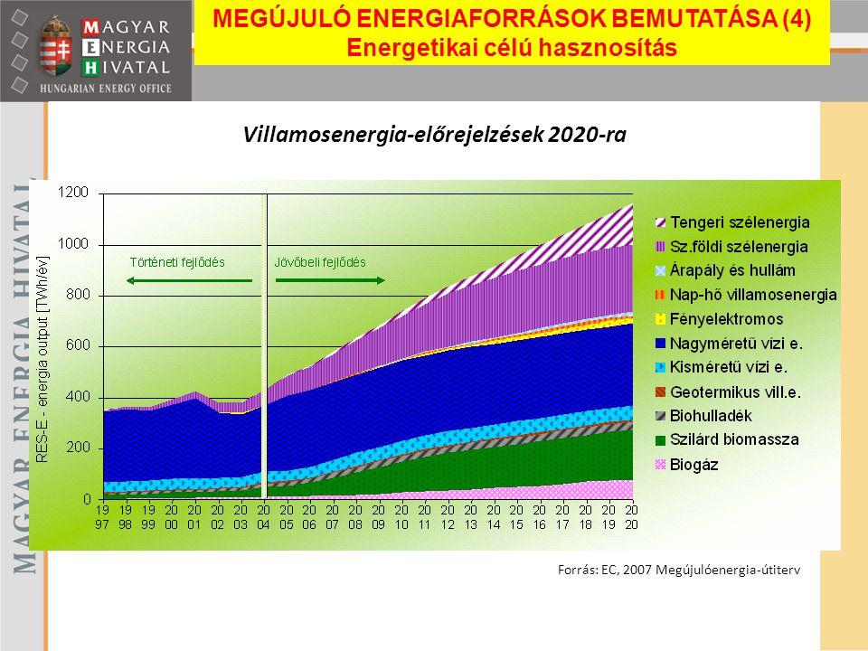 Villamosenergia-előrejelzések 2020-ra