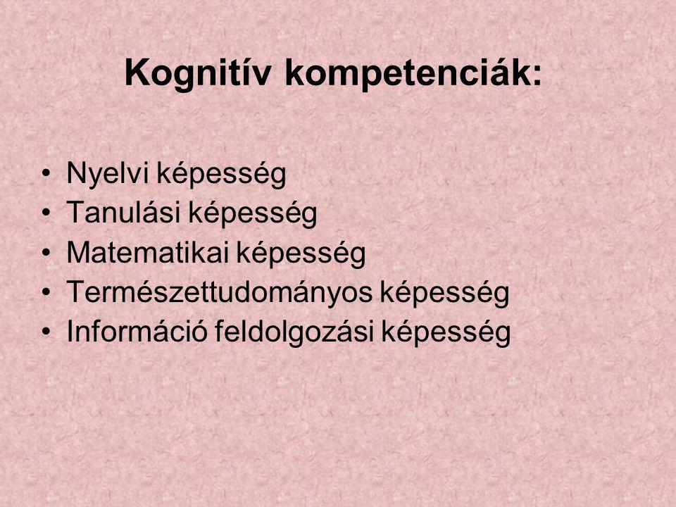 Kognitív kompetenciák: