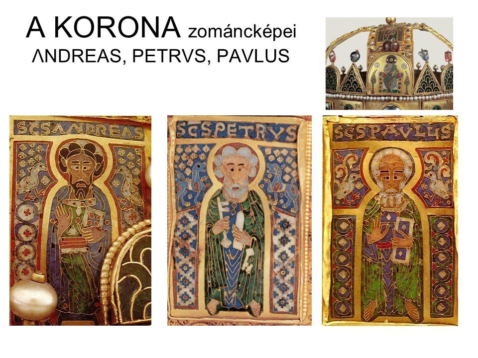 A KORONA zománcképei ΛNDREAS, PETRVS, PAVLUS