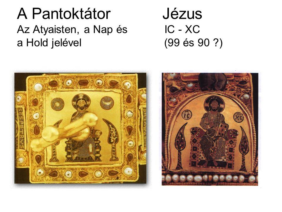 A Pantoktátor. Jézus Az Atyaisten, a Nap és IC - XC a Hold jelével