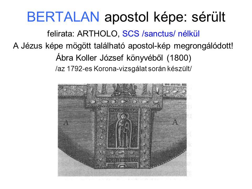 BERTALAN apostol képe: sérült