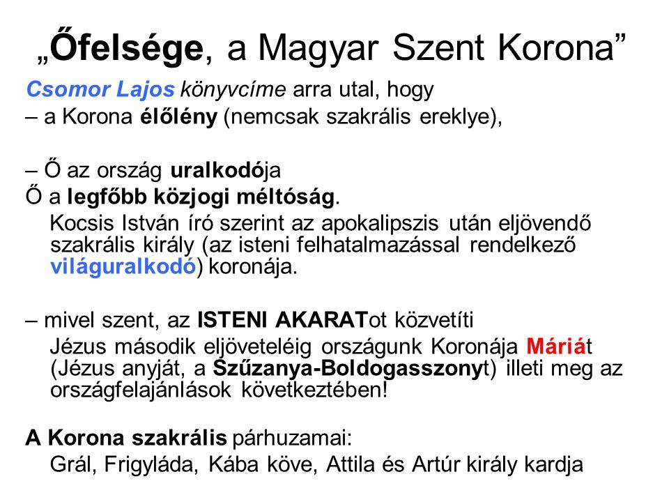 """""""Őfelsége, a Magyar Szent Korona"""