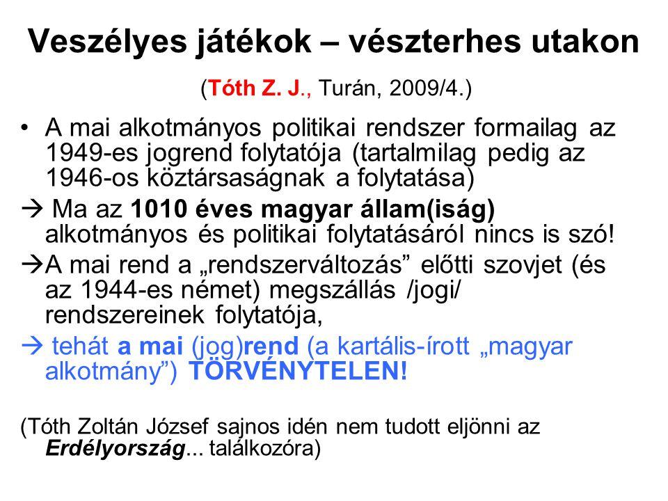 Veszélyes játékok – vészterhes utakon (Tóth Z. J., Turán, 2009/4.)