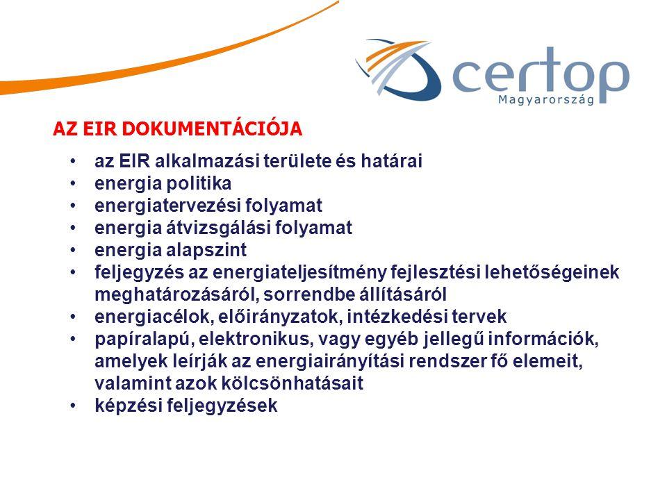 az EIR alkalmazási területe és határai energia politika
