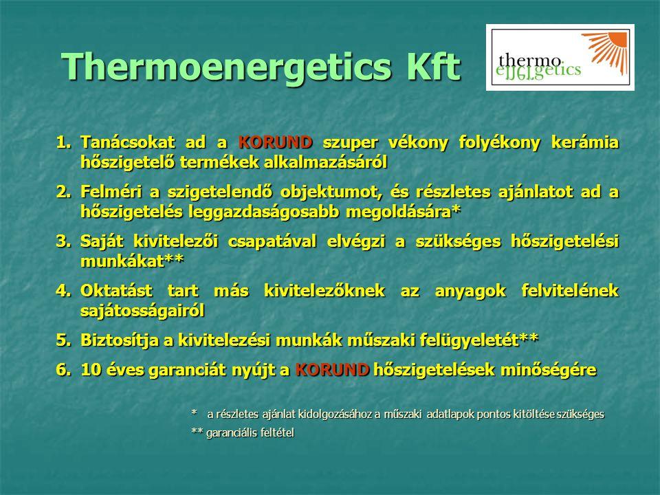 Thermoenergetics Kft Tanácsokat ad a KORUND szuper vékony folyékony kerámia hőszigetelő termékek alkalmazásáról.