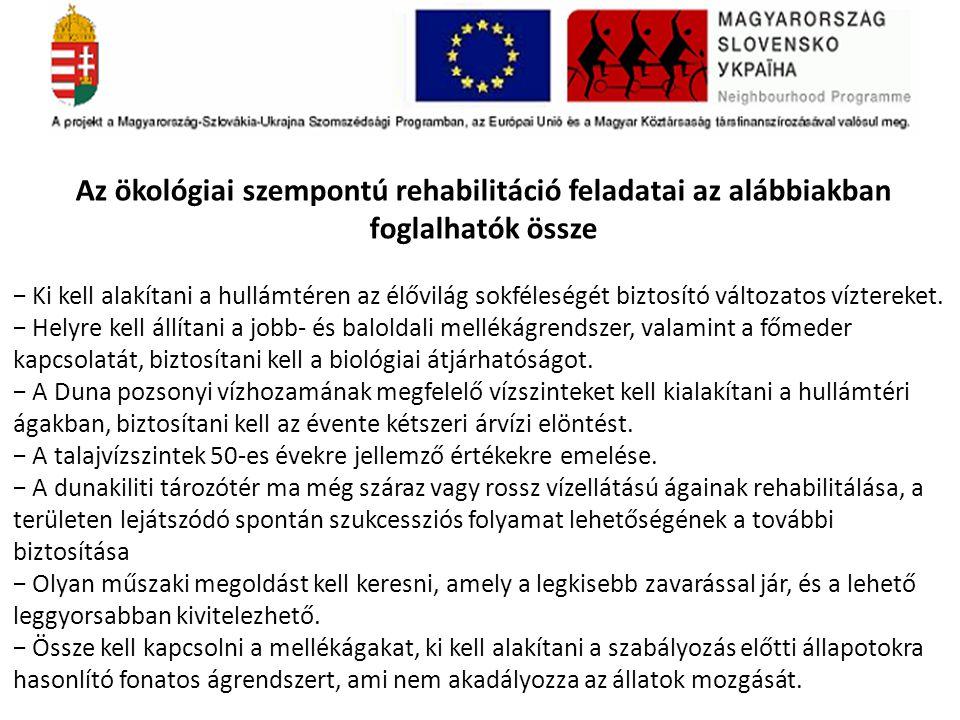 Az ökológiai szempontú rehabilitáció feladatai az alábbiakban foglalhatók össze