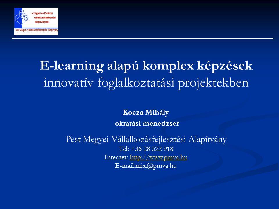E-learning alapú komplex képzések