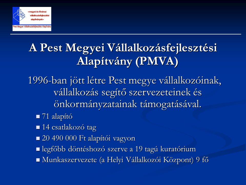 A Pest Megyei Vállalkozásfejlesztési Alapítvány (PMVA)
