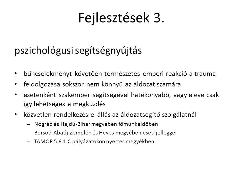 Fejlesztések 3. pszichológusi segítségnyújtás