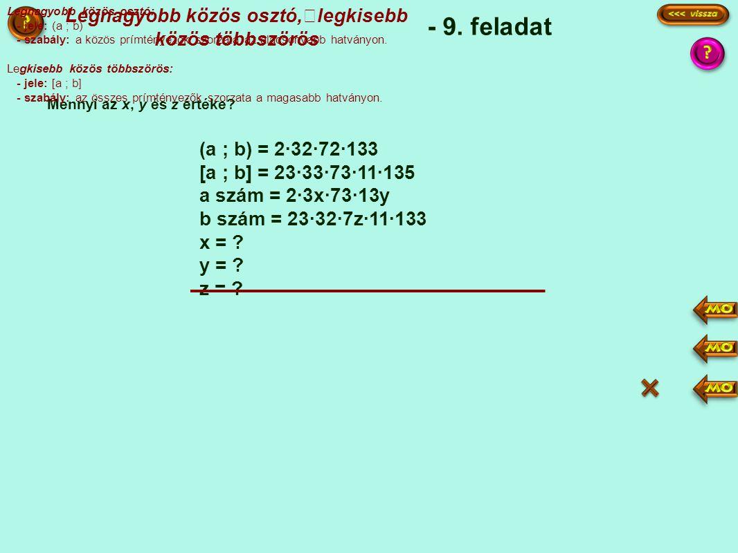 Legnagyobb közös osztó, legkisebb közös többszörös